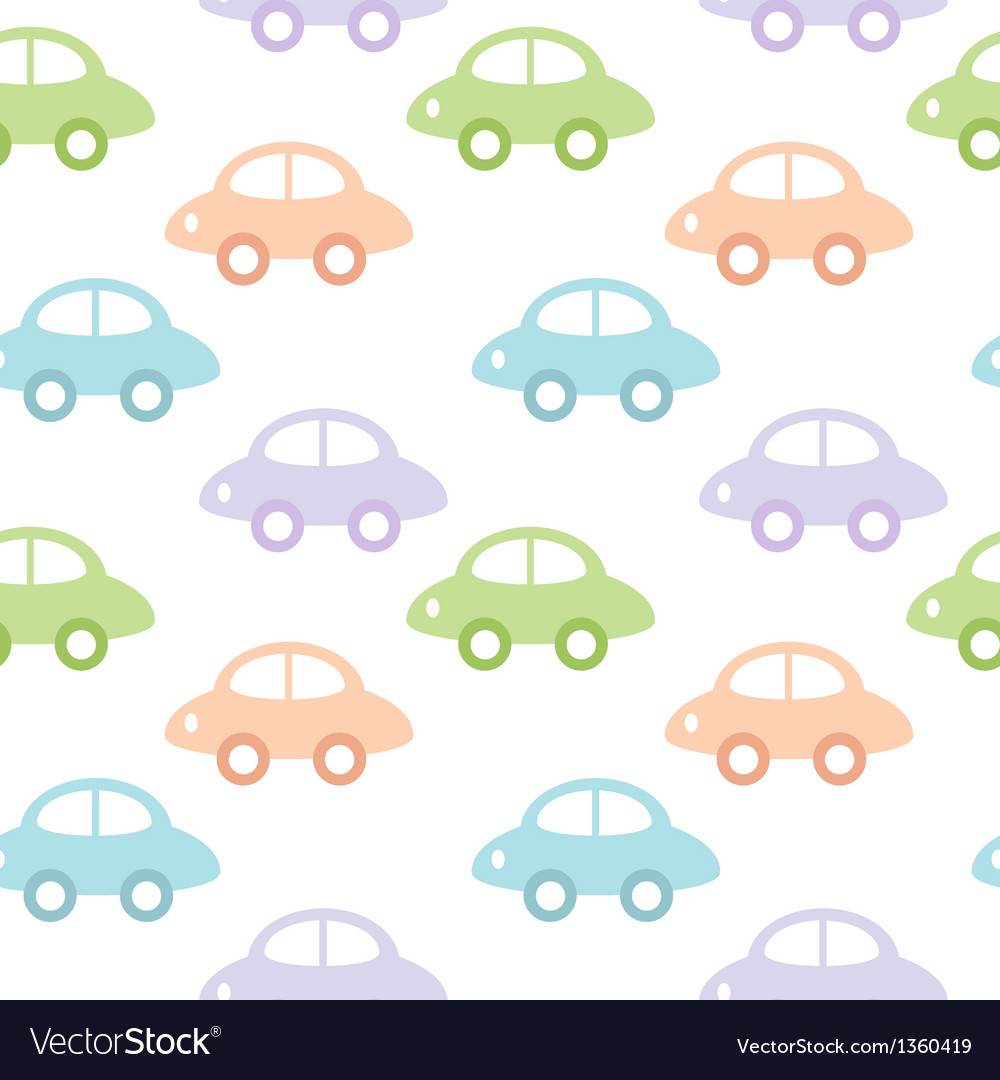 Childish background with cars for baby boy vector | Price: 1 Credit (USD $1)