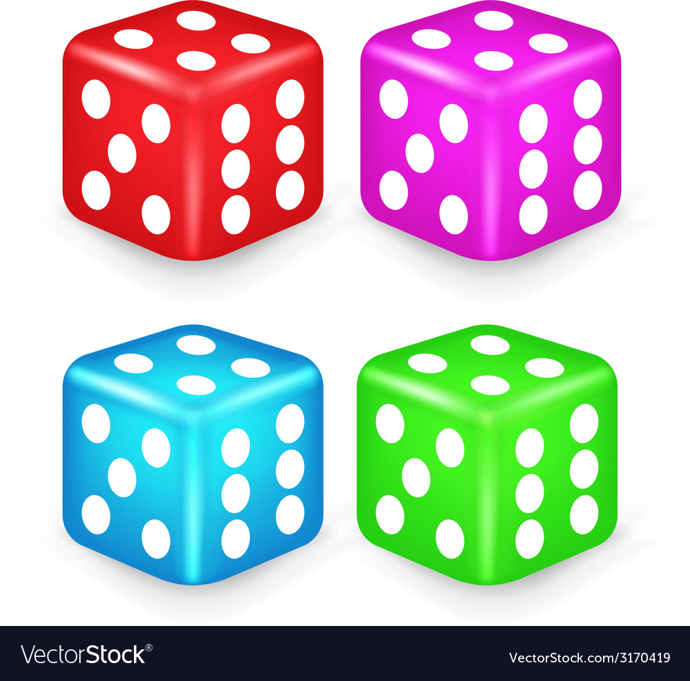 Color box dice 3d vector | Price: 1 Credit (USD $1)