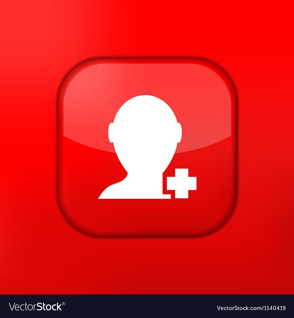 Glossy red misc icons vector | Price: 1 Credit (USD $1)