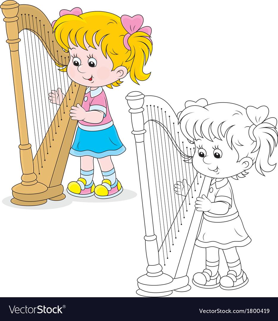 Harpist vector   Price: 1 Credit (USD $1)