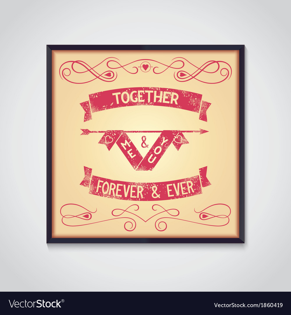 Me and you together phrase grunge vector | Price: 1 Credit (USD $1)
