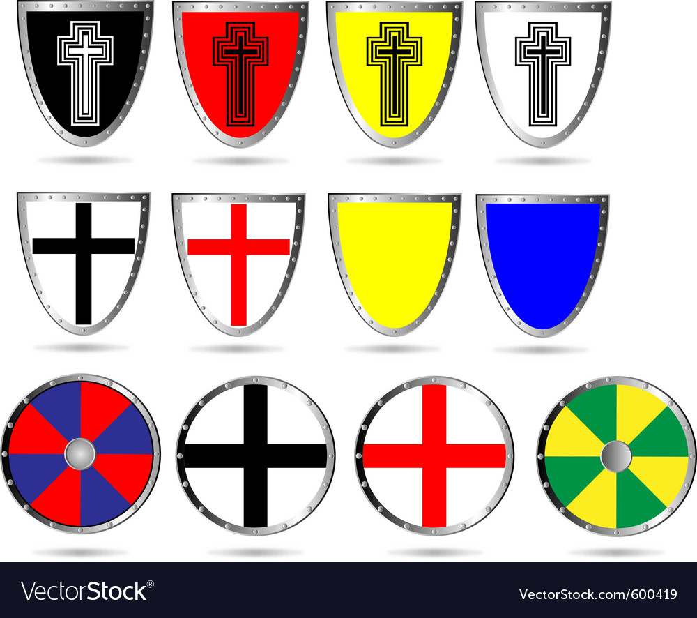 Medieval shields vector | Price: 1 Credit (USD $1)
