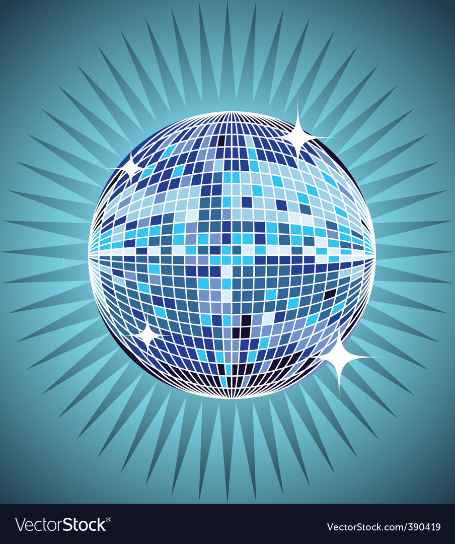 Mirror ball background vector | Price: 1 Credit (USD $1)