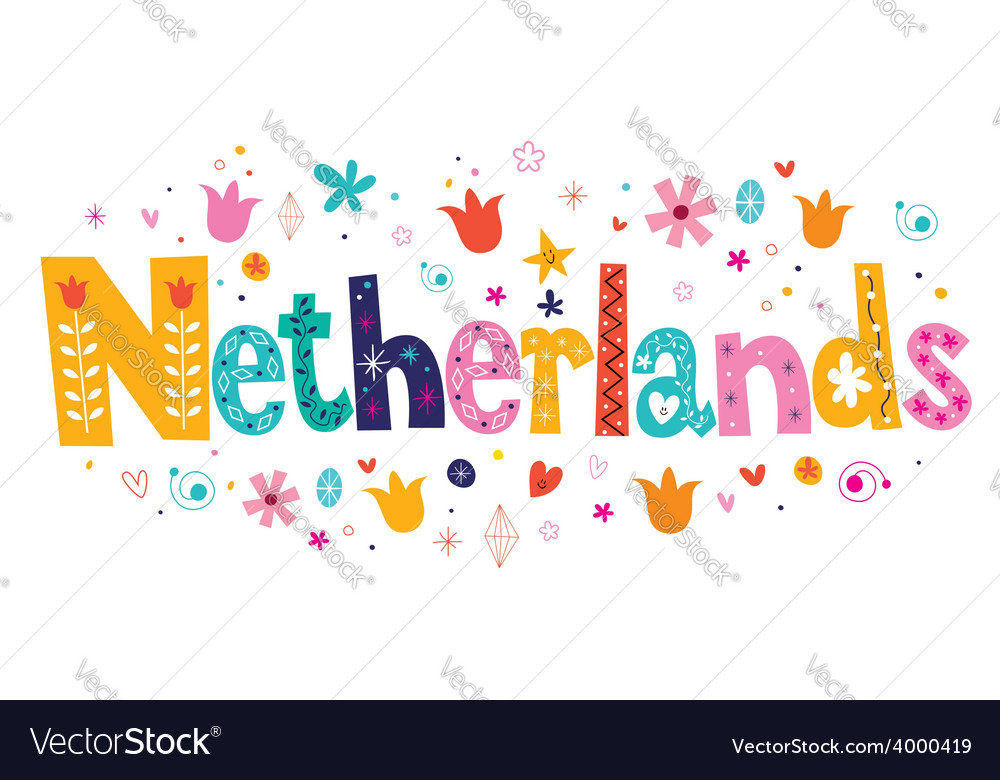 Netherlands holland decorative lettering vector | Price: 1 Credit (USD $1)
