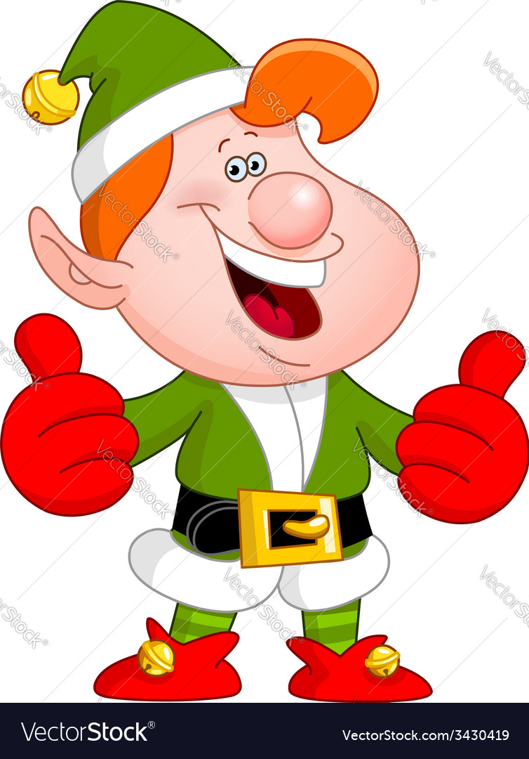 Thumbs up elf vector | Price: 3 Credit (USD $3)