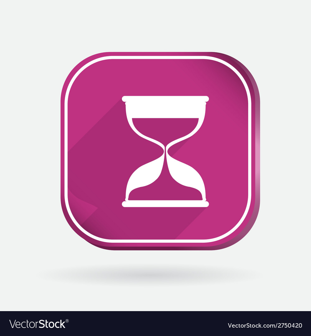 Hourglass waiting color square icon vector | Price: 1 Credit (USD $1)