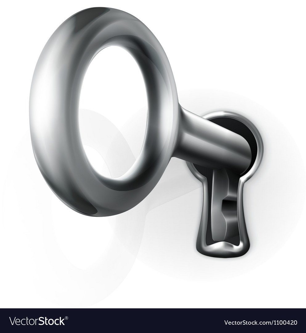Key in keyhole vector | Price: 1 Credit (USD $1)