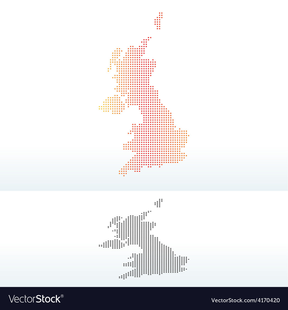 Map - united kingdom of great britain and northern vector | Price: 1 Credit (USD $1)