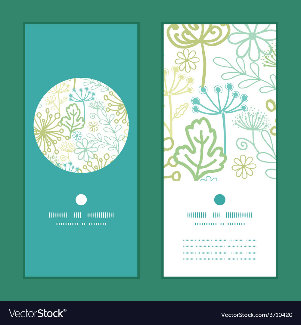 Mysterious green garden vertical round vector | Price: 1 Credit (USD $1)