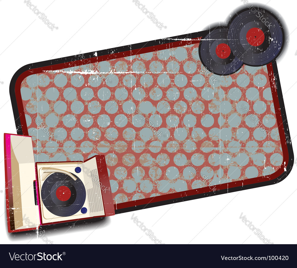 Old fashioned record player background vector | Price: 1 Credit (USD $1)