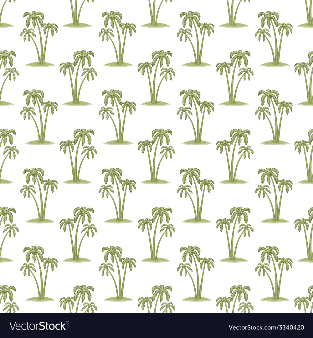 Palms pattern vector | Price: 1 Credit (USD $1)