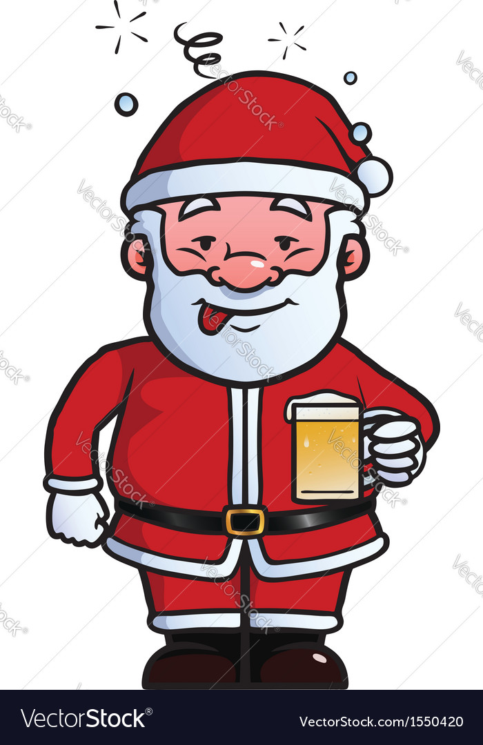 Santa claus being drunk vector | Price: 1 Credit (USD $1)