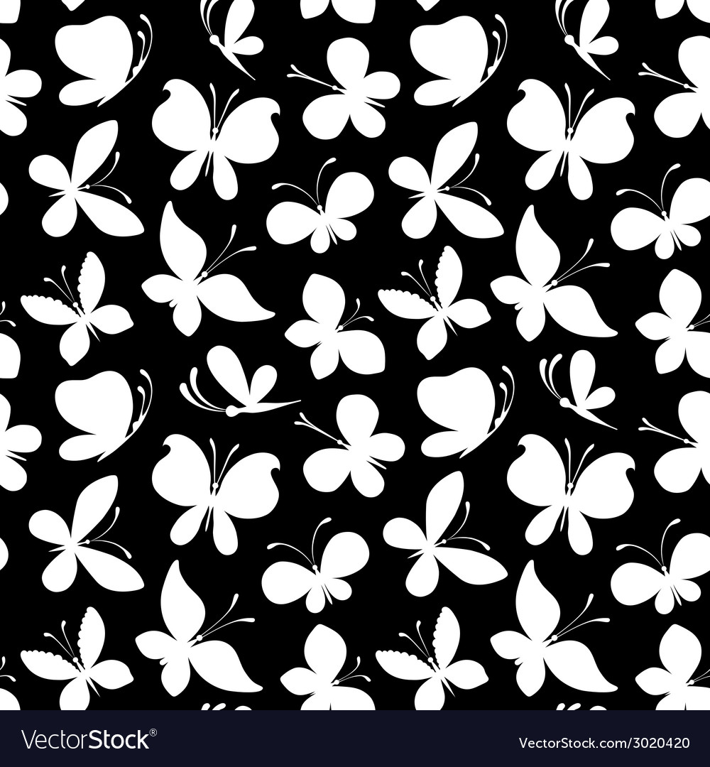 Seamless pattern of white silhouettes of vector | Price: 1 Credit (USD $1)