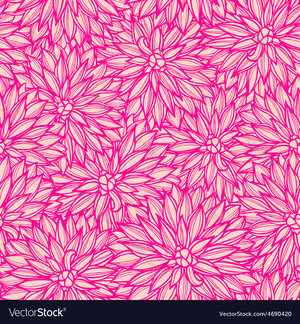 Seamless pattern with flowers dahlia vector | Price: 1 Credit (USD $1)