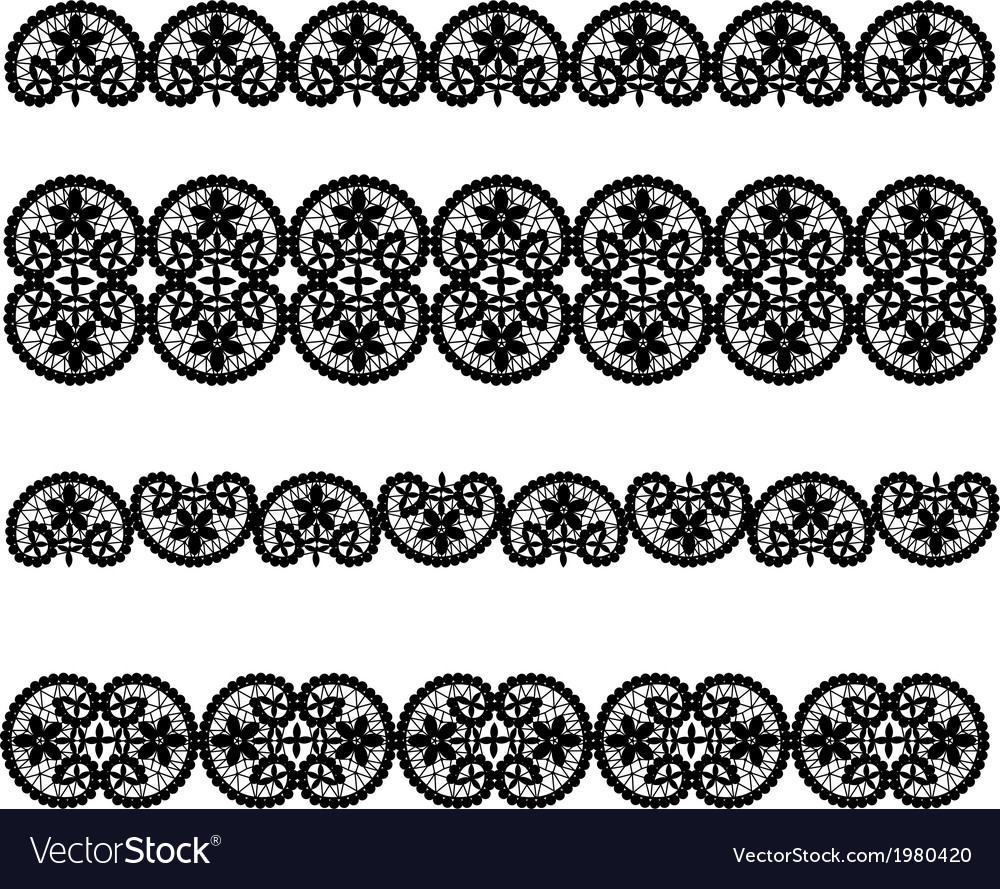 Set of black lace vector | Price: 1 Credit (USD $1)