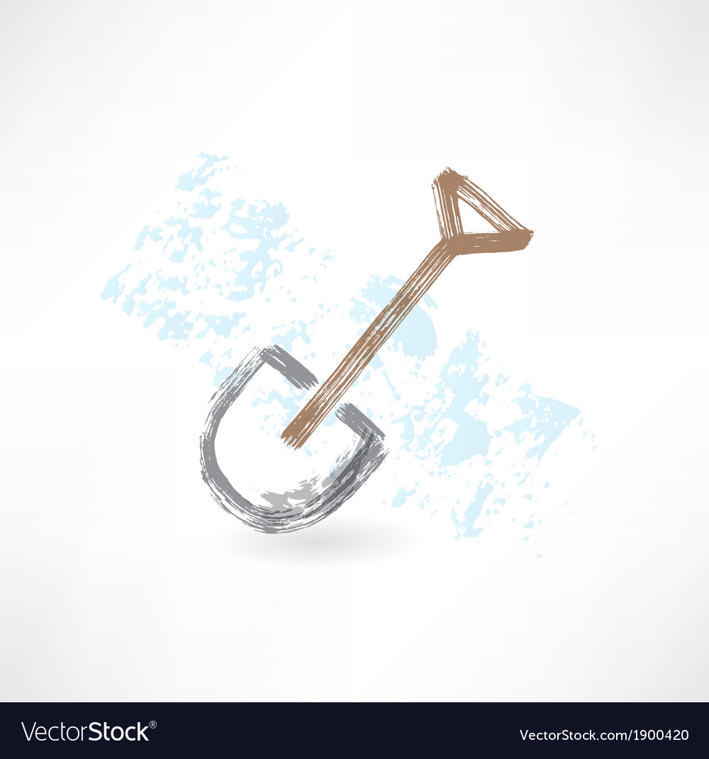 Shovel grunge icon vector | Price: 1 Credit (USD $1)
