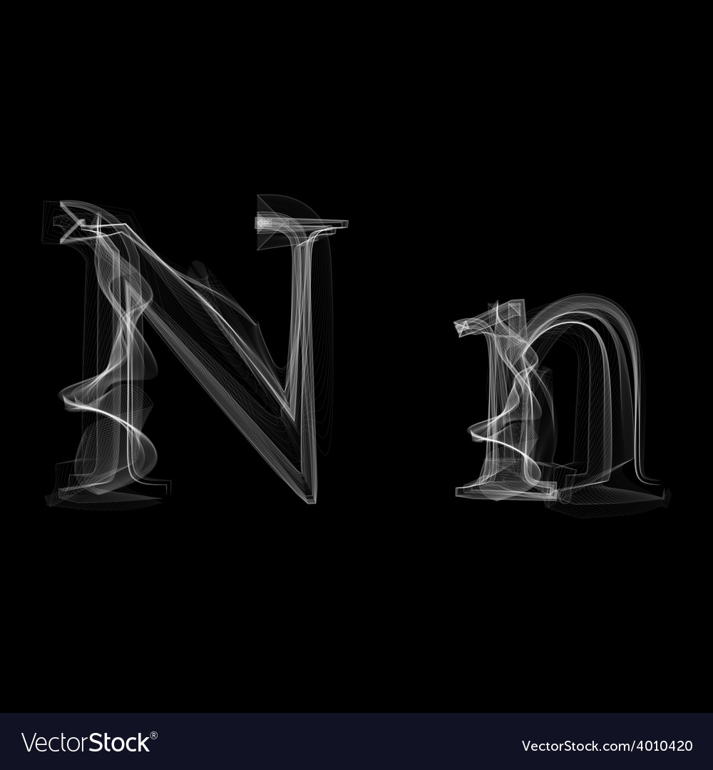 Smoke font letter n vector | Price: 1 Credit (USD $1)