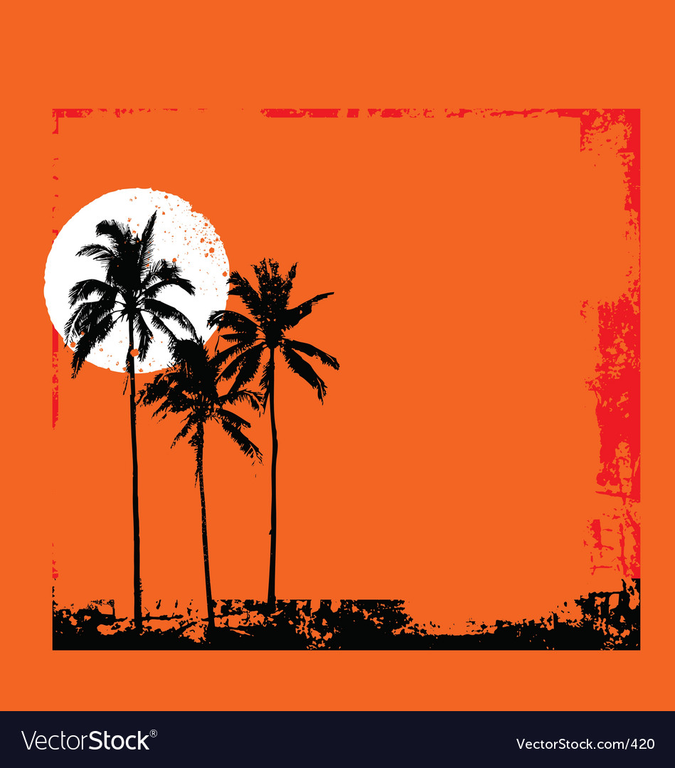 Tropical grunge vector | Price: 1 Credit (USD $1)