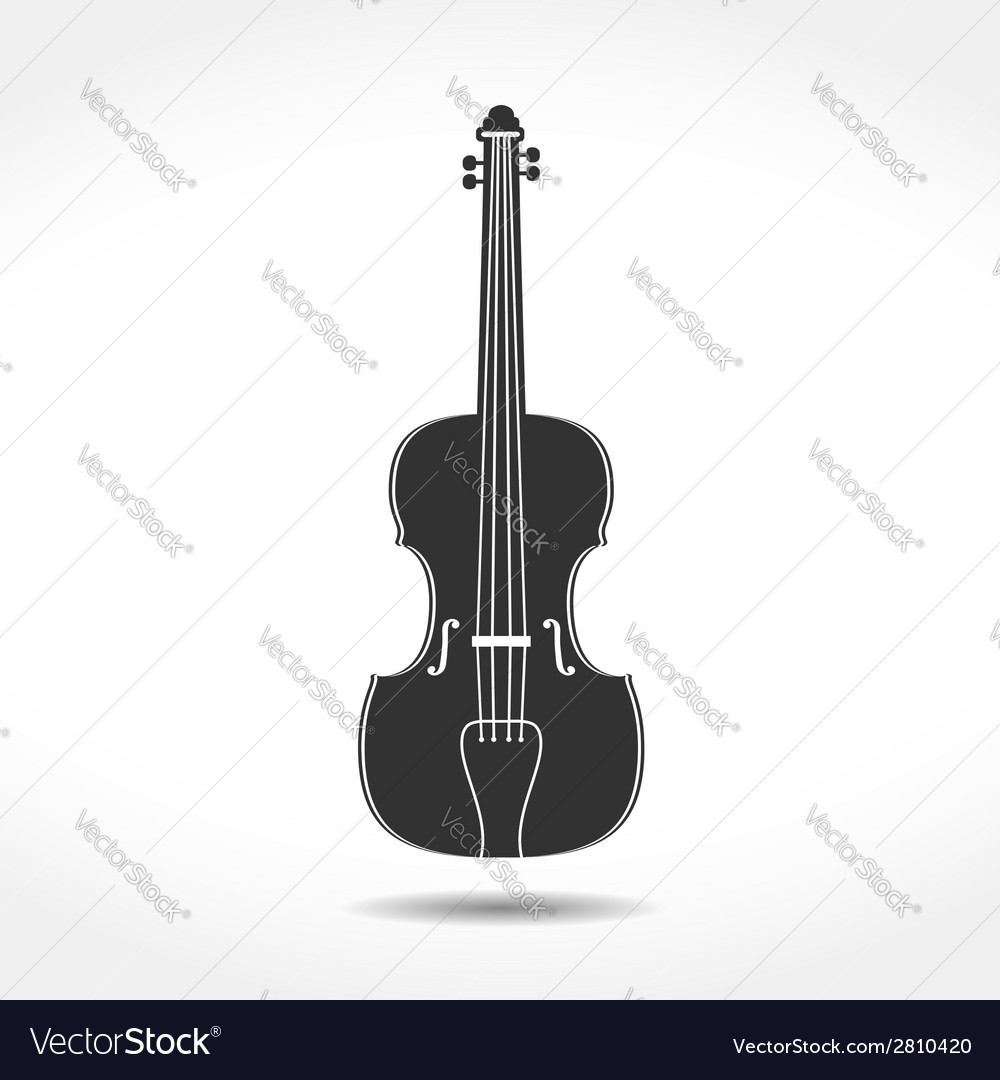 Violin icon vector | Price: 1 Credit (USD $1)