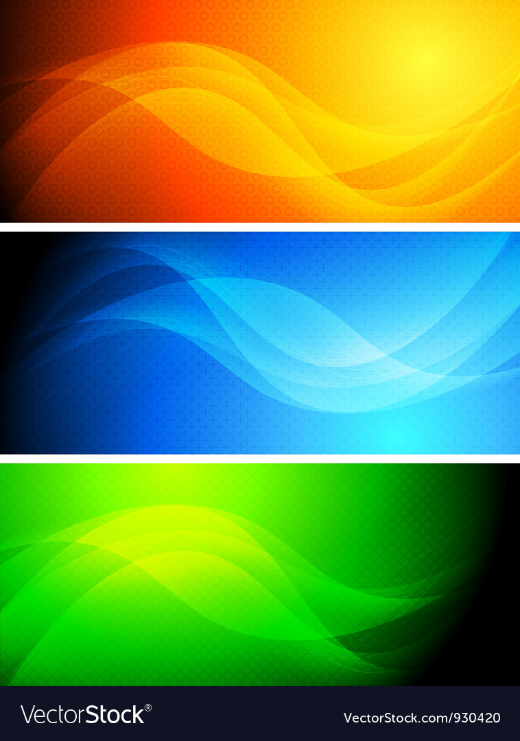 Wave banners collection vector | Price: 1 Credit (USD $1)