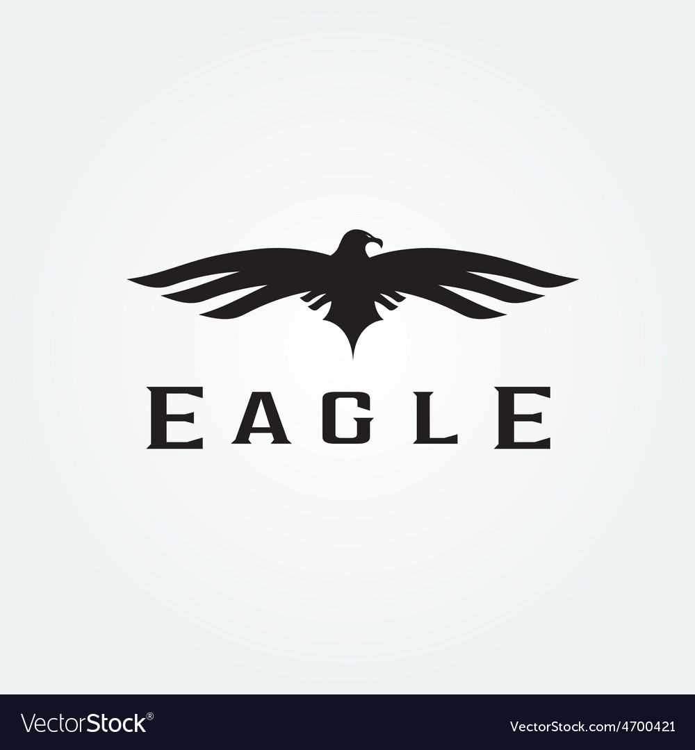 Bird eagle abstract design template vector | Price: 1 Credit (USD $1)