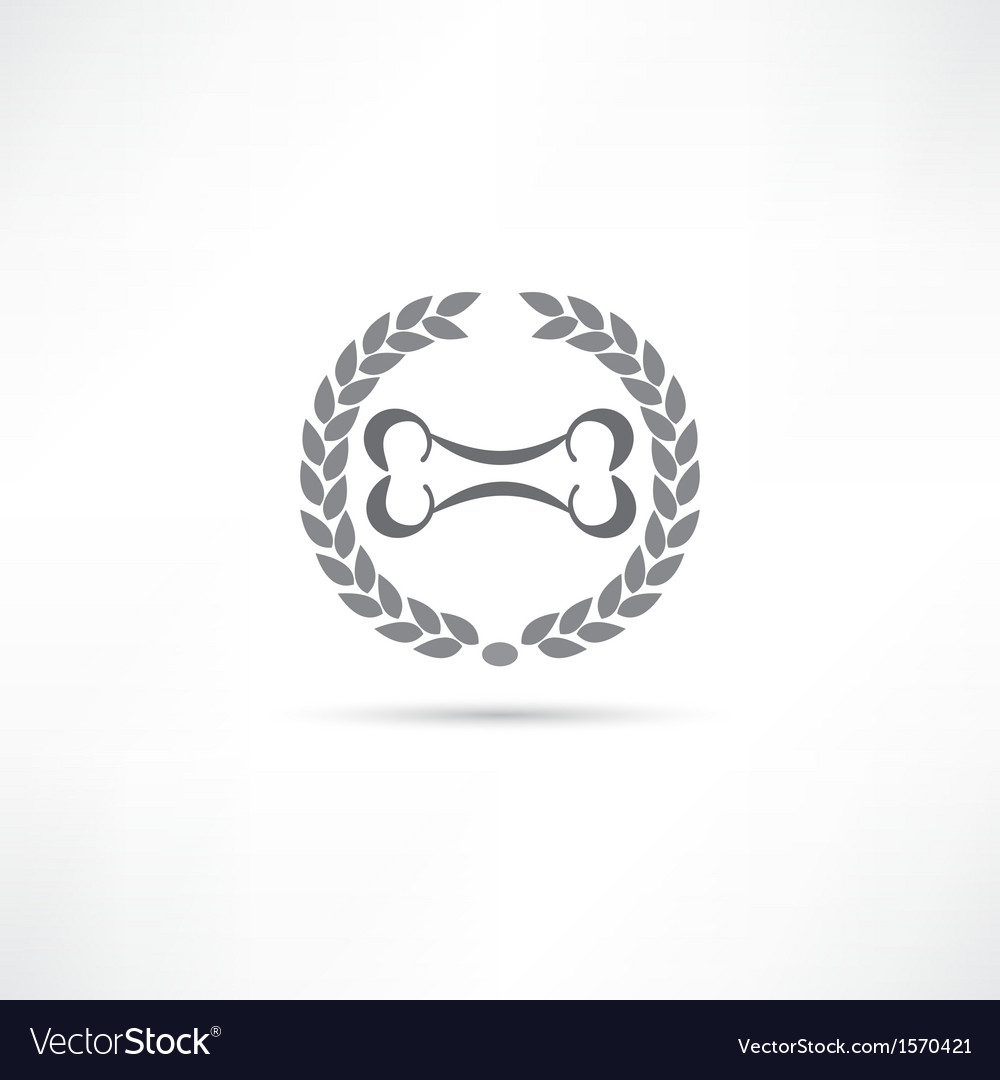 Bone icon vector | Price: 1 Credit (USD $1)