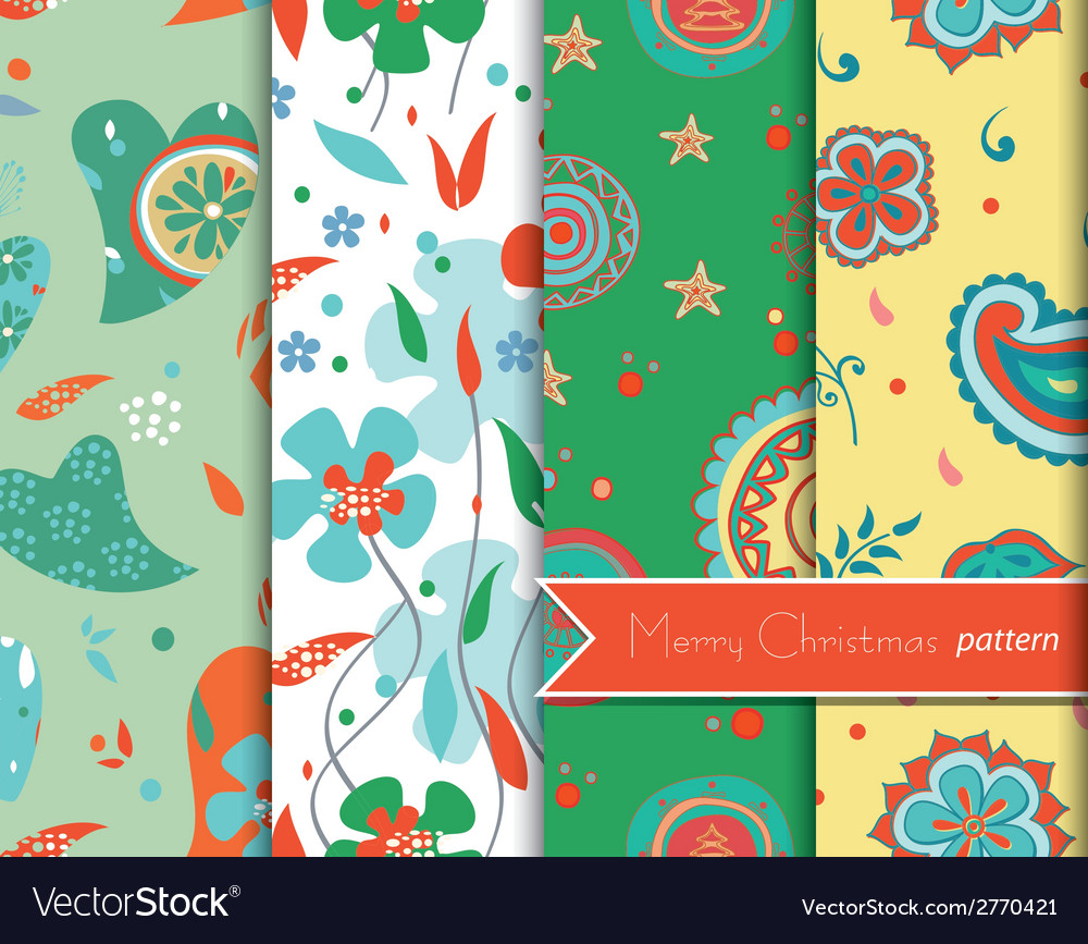 Christmas decoration patterns vector | Price: 1 Credit (USD $1)