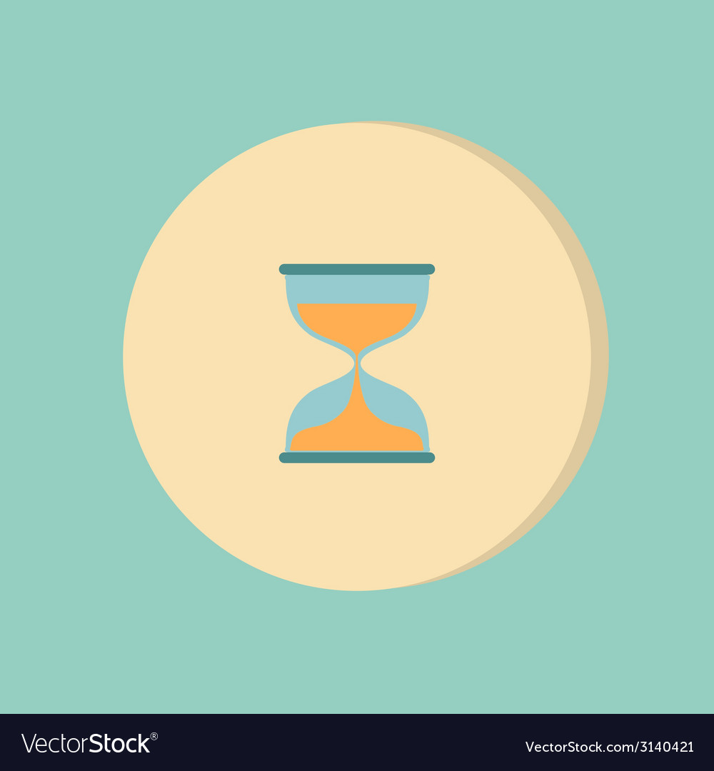 Hourglass waiting icon expectations vector   Price: 1 Credit (USD $1)