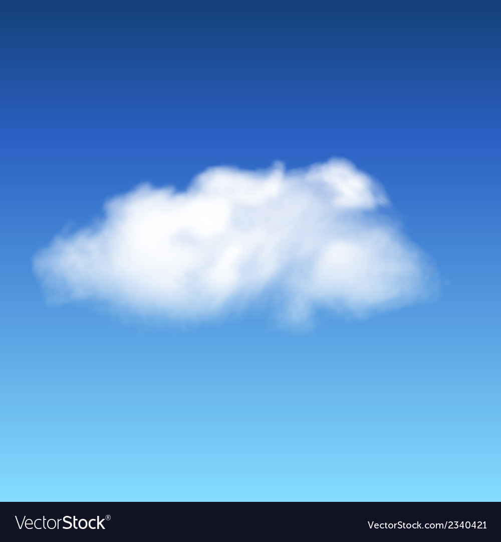 Lonley cloud vector | Price: 1 Credit (USD $1)