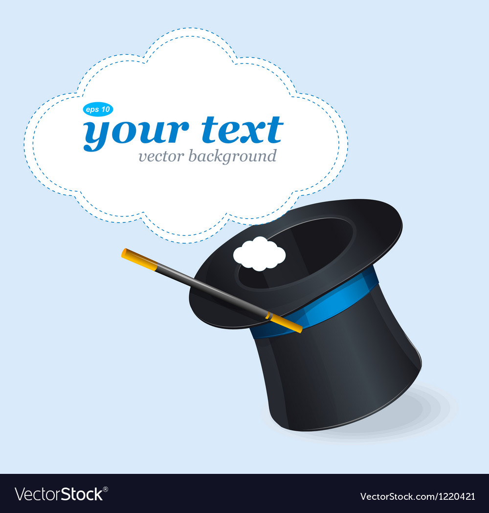 Magic hat and text vector | Price: 3 Credit (USD $3)