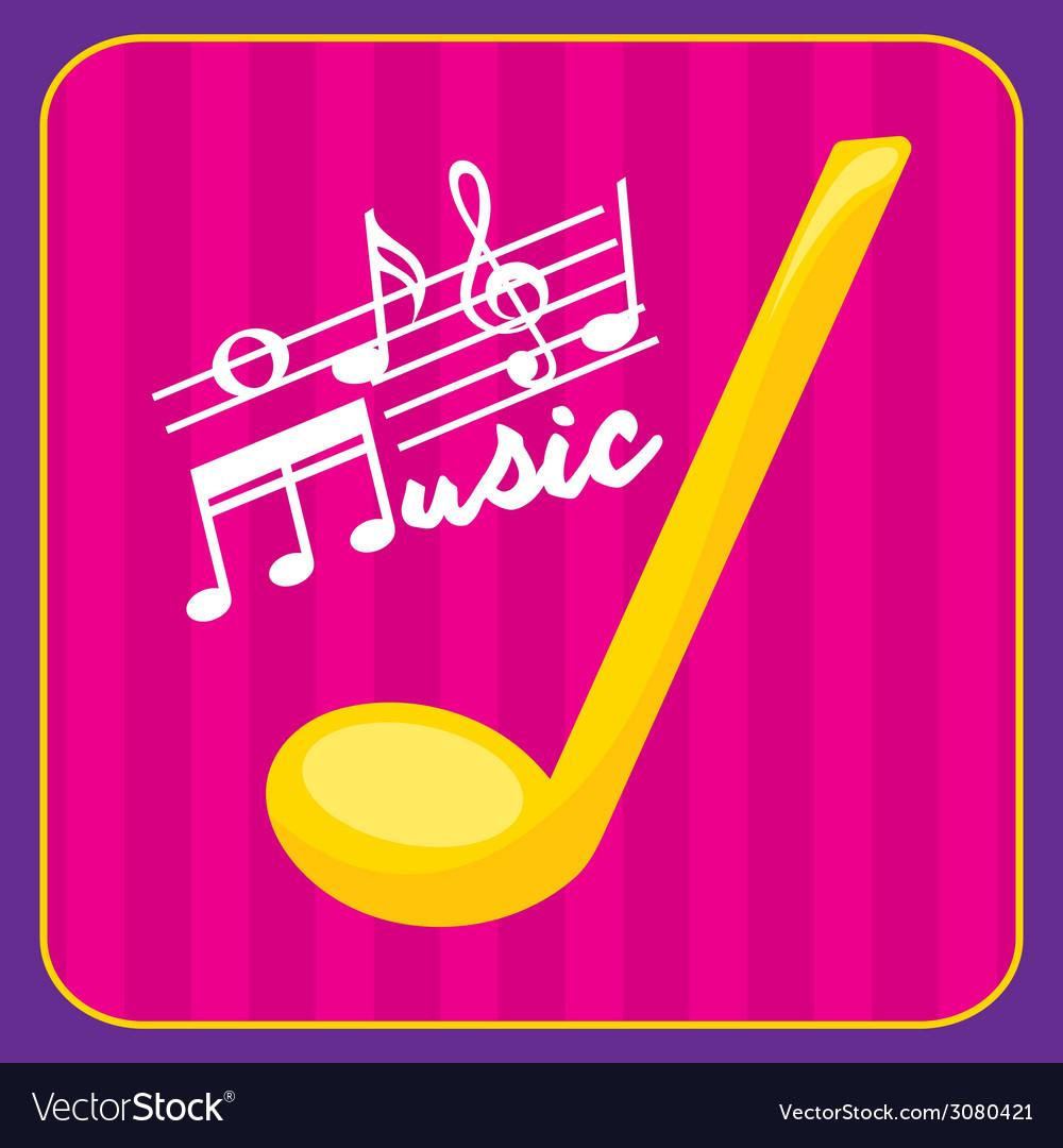Music design vector | Price: 1 Credit (USD $1)
