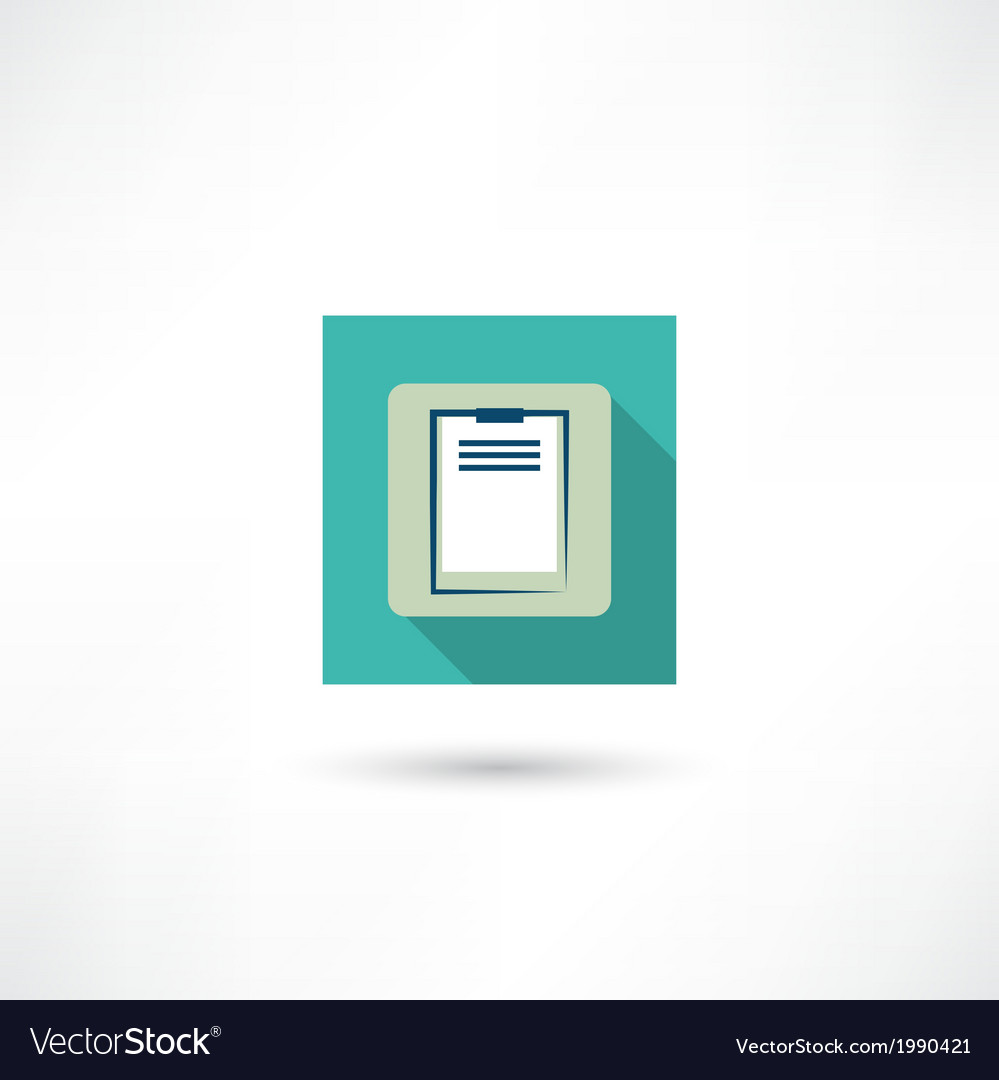 Office tablet icon vector | Price: 1 Credit (USD $1)