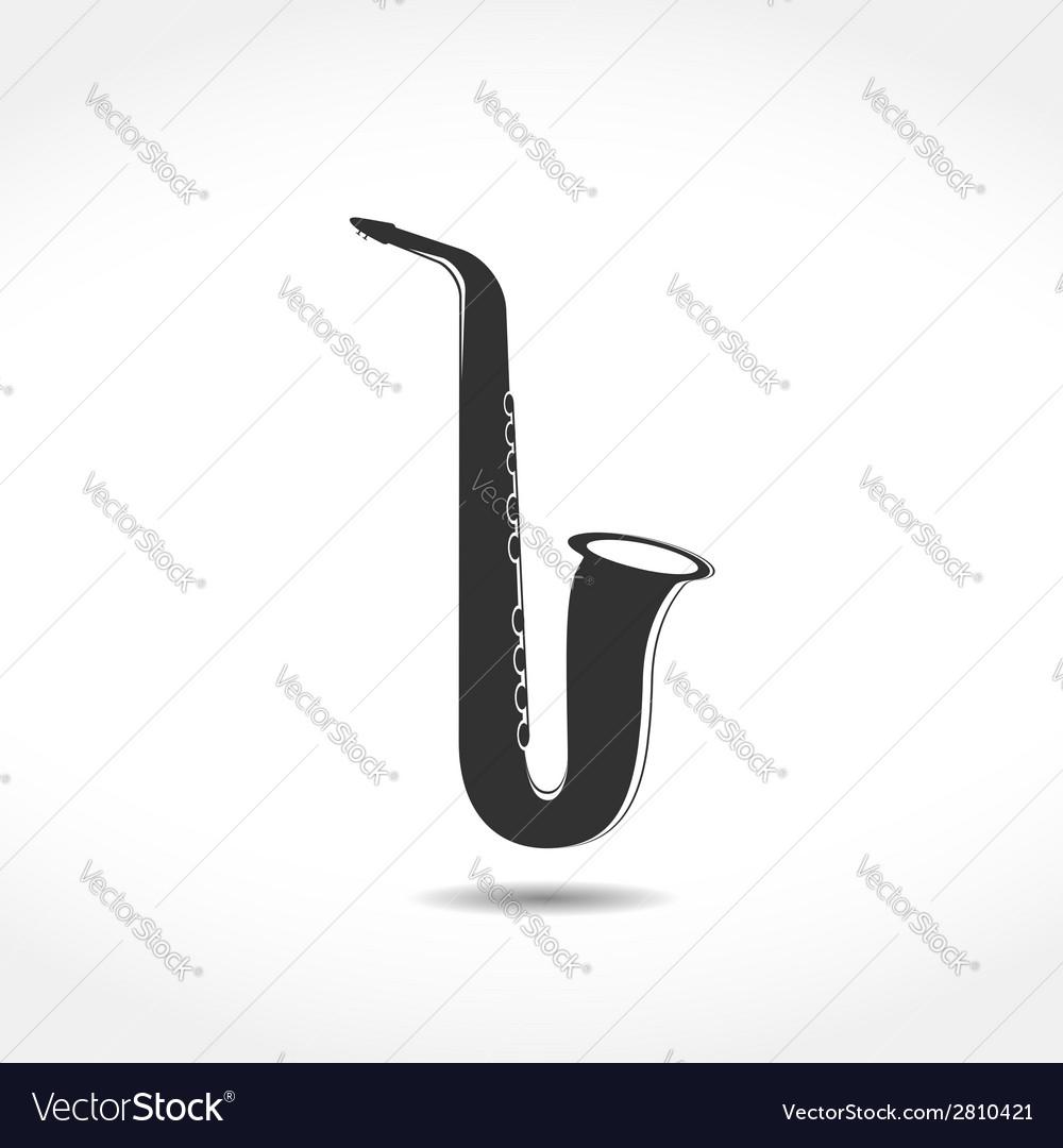 Saxophone icon vector | Price: 1 Credit (USD $1)