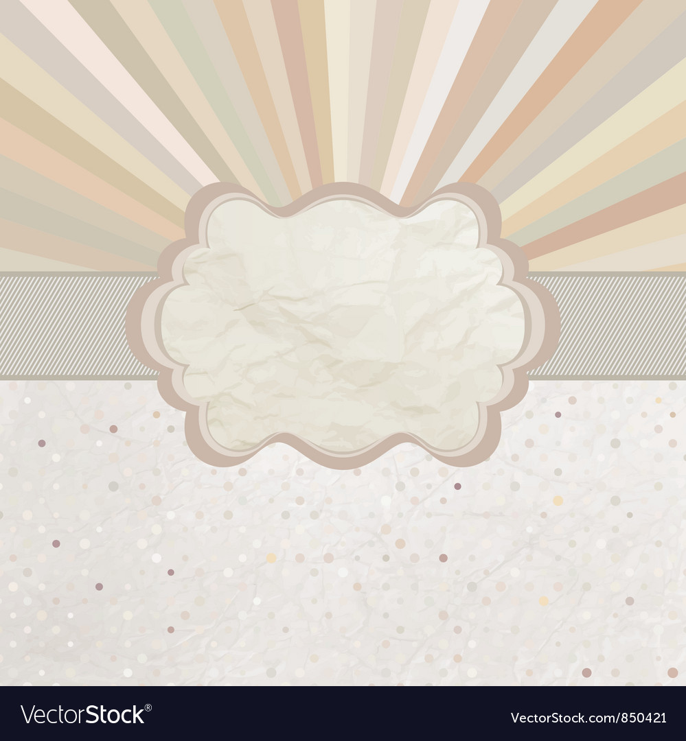 Vintage sunburst card vector | Price: 1 Credit (USD $1)
