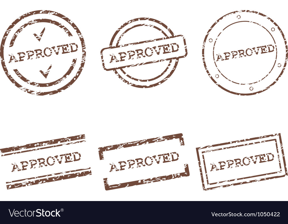 Approved stamps vector | Price: 1 Credit (USD $1)
