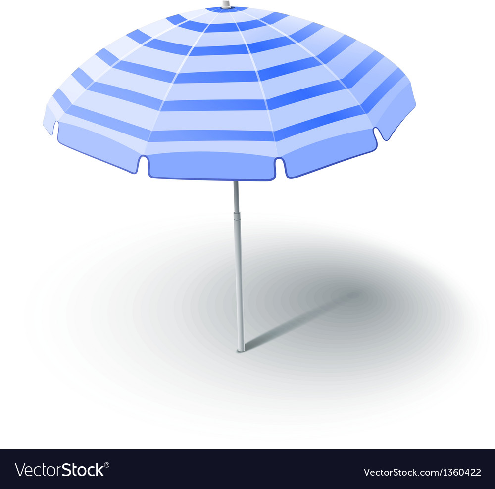 Beach sunshade vector | Price: 1 Credit (USD $1)