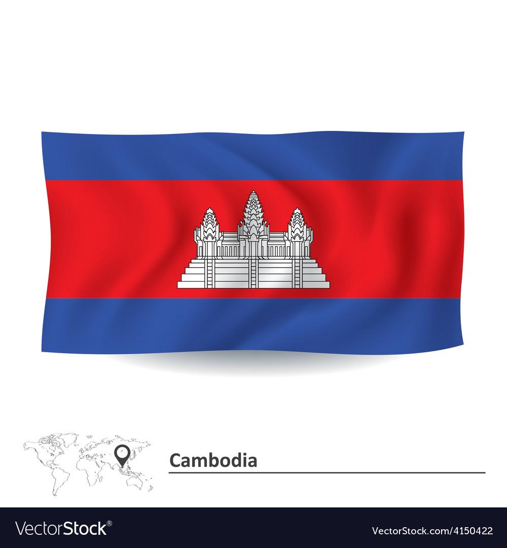Flag of cambodia vector | Price: 1 Credit (USD $1)