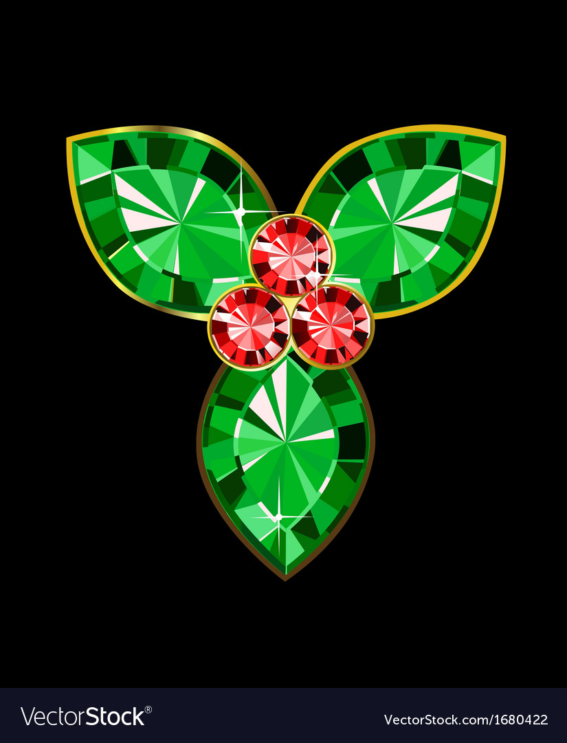 Gem holly berry vector | Price: 1 Credit (USD $1)