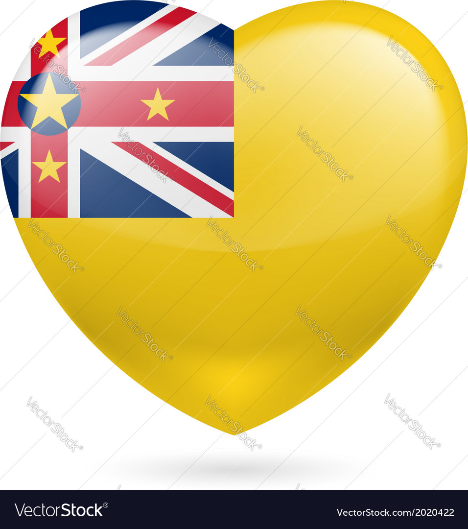 Heart icon of niue vector | Price: 1 Credit (USD $1)