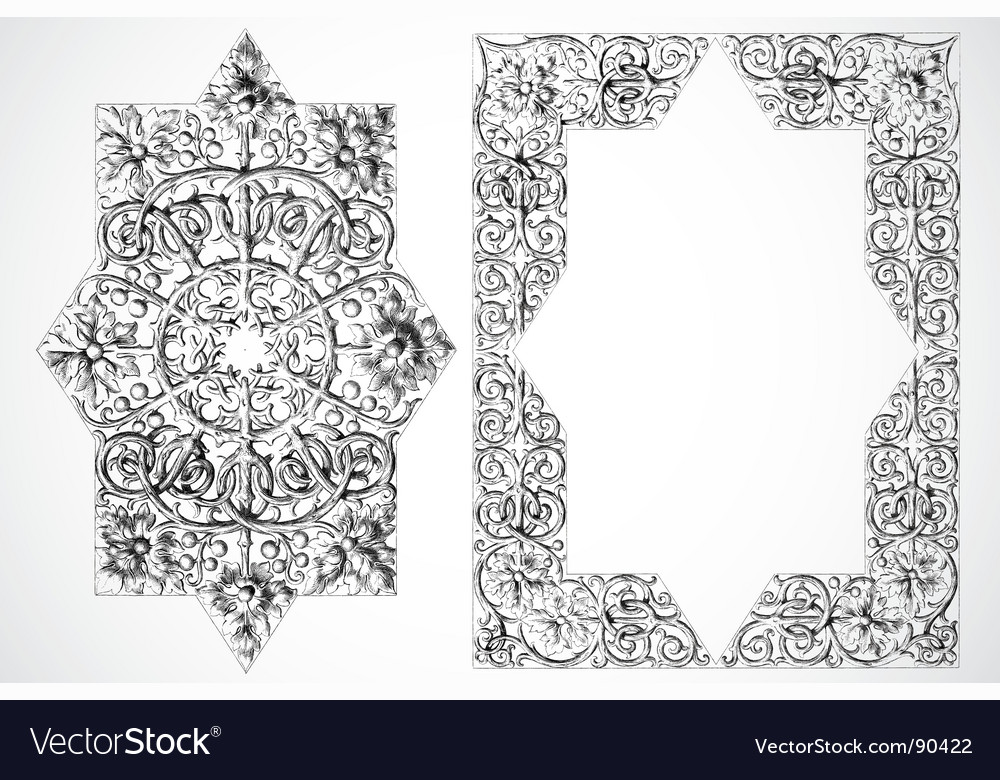 Ornament and frame vector | Price: 1 Credit (USD $1)