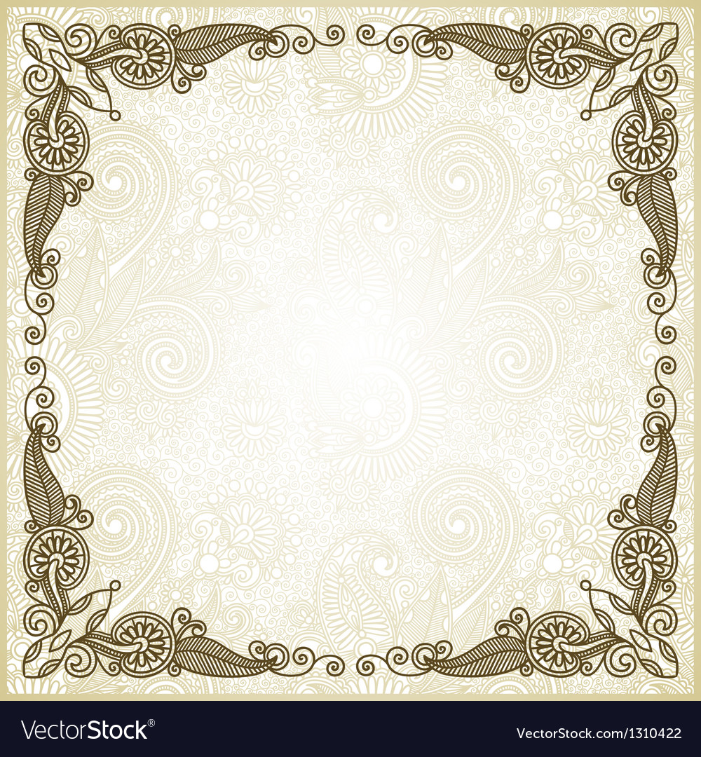 Ornate abstract floral background vector | Price: 1 Credit (USD $1)
