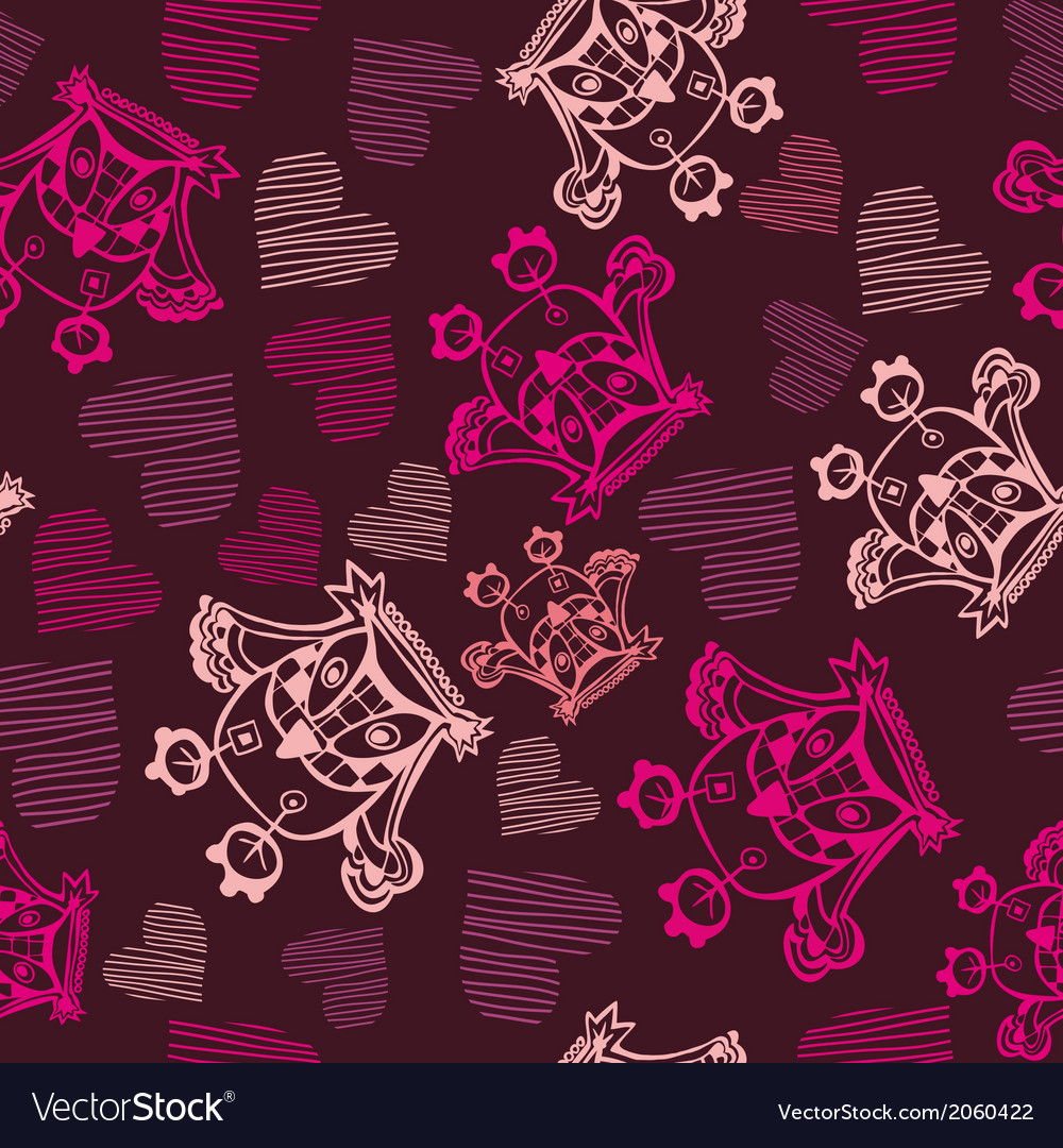 Romantic seamless pattern vector   Price: 1 Credit (USD $1)