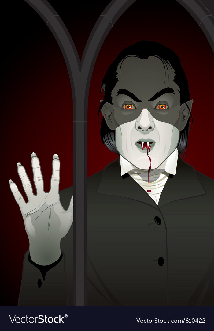 Vampire at the window vector | Price: 5 Credit (USD $5)