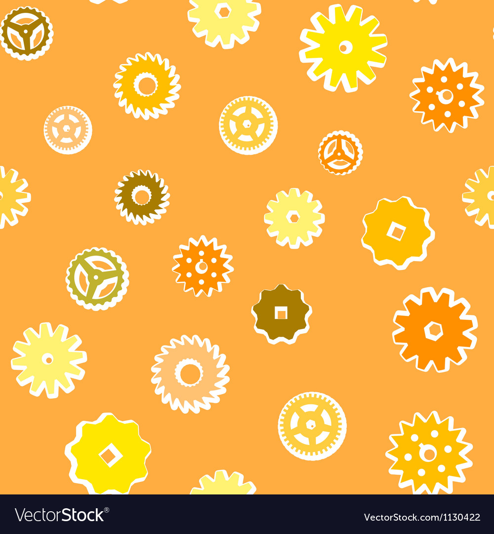 Vintage gear seamless pattern vector | Price: 1 Credit (USD $1)