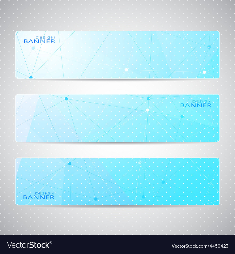 Collection horizontal banners design molecule and vector | Price: 1 Credit (USD $1)