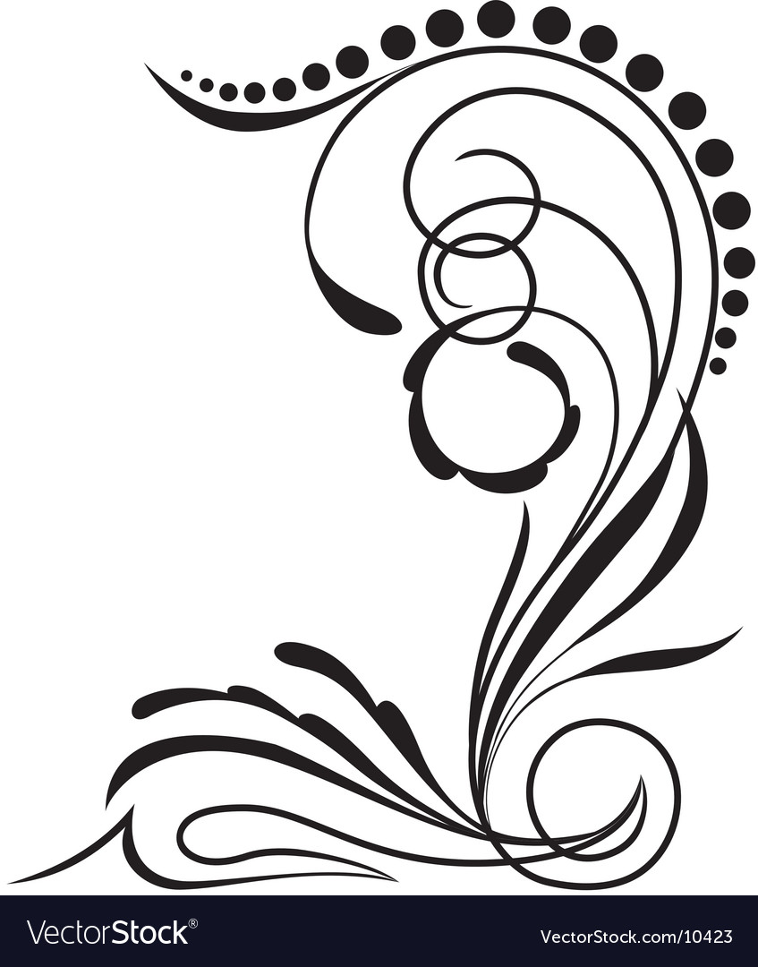 Curl ornamental vector | Price: 1 Credit (USD $1)