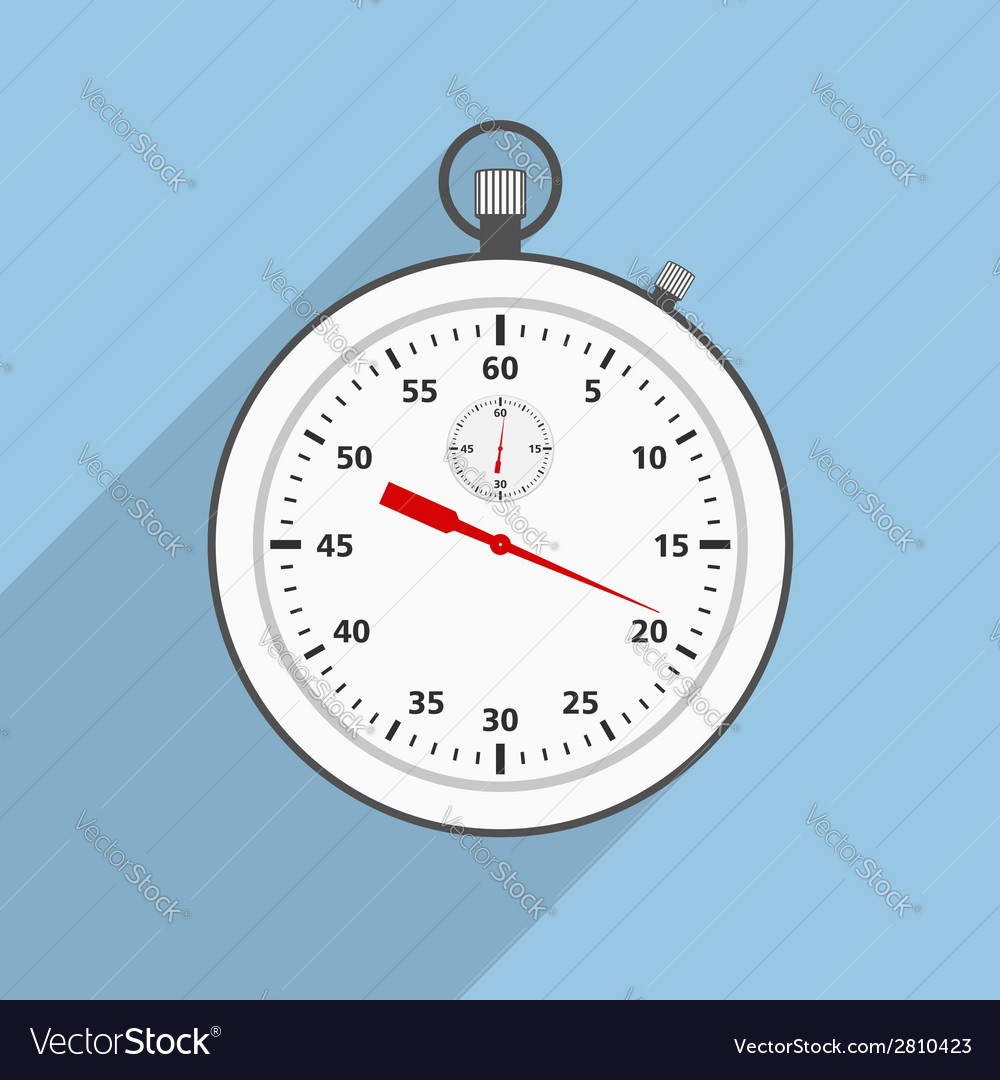 Flat stopwatch vector | Price: 1 Credit (USD $1)
