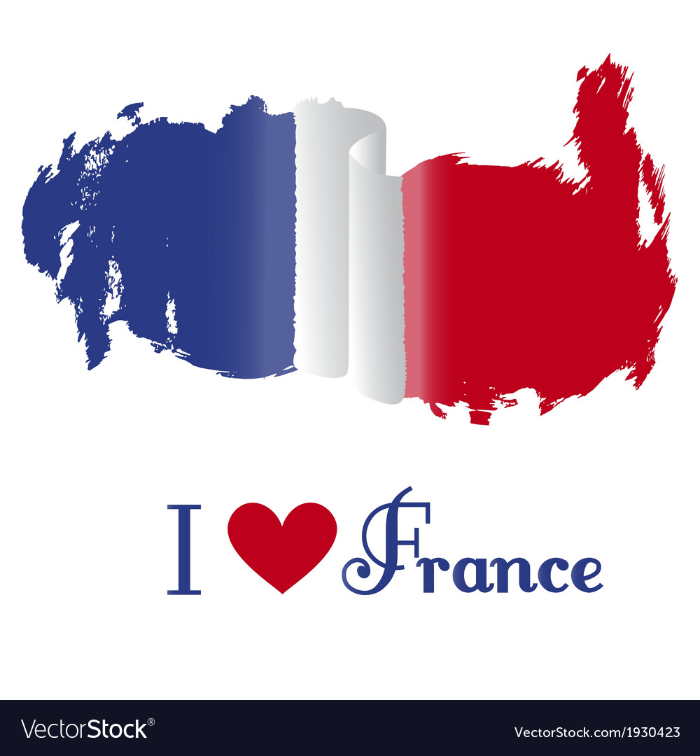French flag vector | Price: 1 Credit (USD $1)