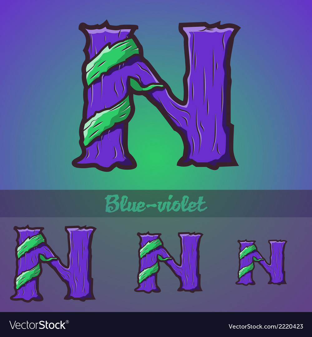 Halloween decorative alphabet - n letter vector | Price: 1 Credit (USD $1)