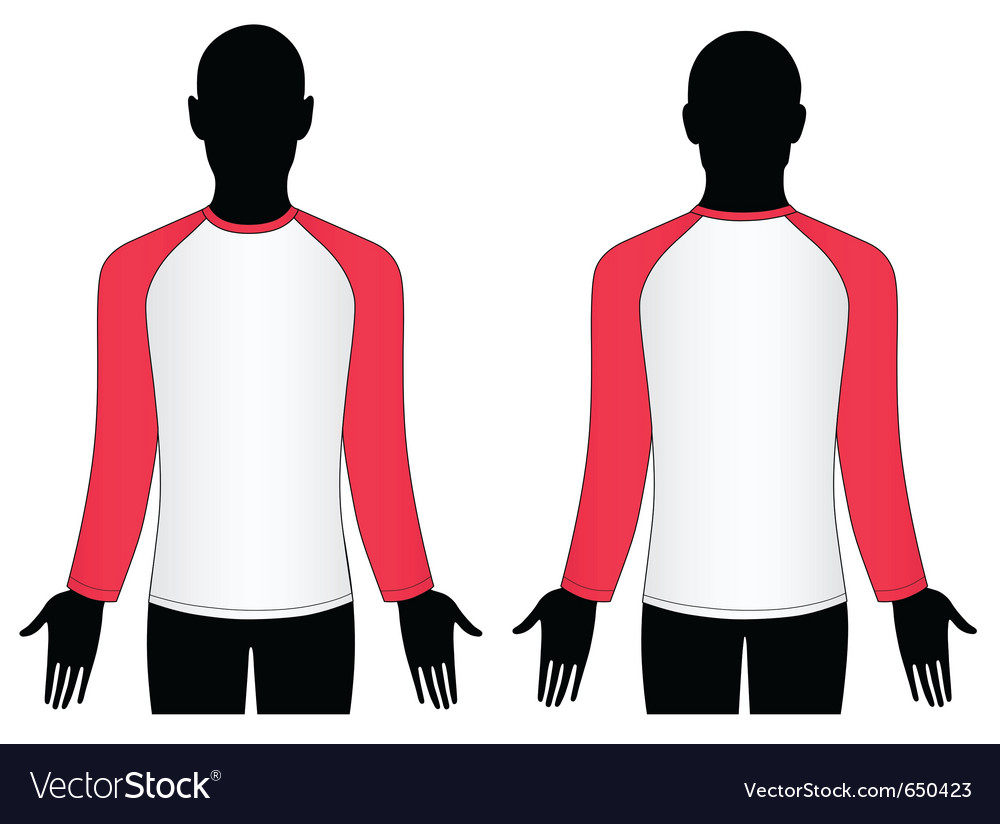 Man wear raglan sleeve t-shirt vector | Price: 1 Credit (USD $1)